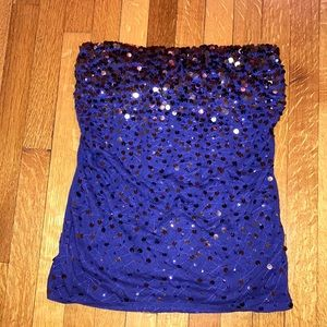 Express Sequin Tube Top